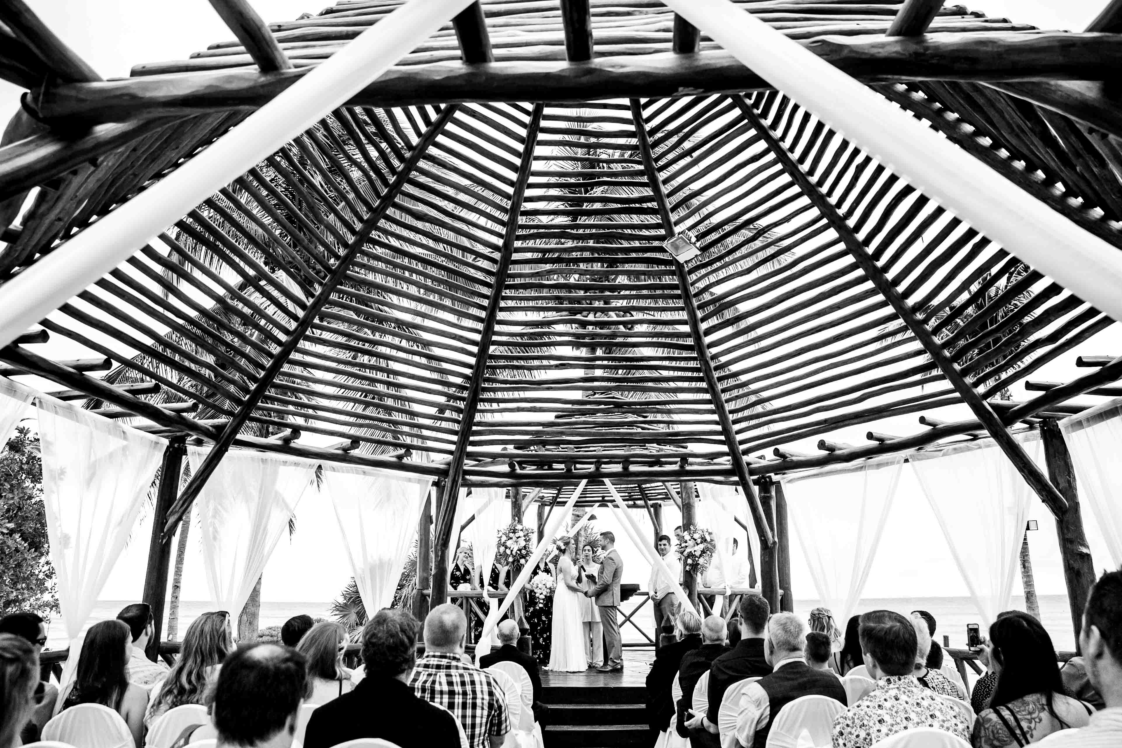 outdoor wedding ceremony mexico destination wedding